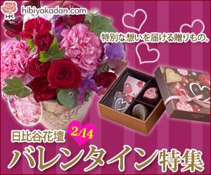 日比谷花壇 バレンタイン特集2013